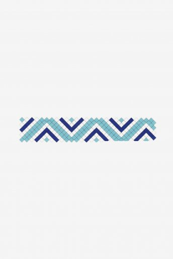 Blue Zig Zag  Friendship Bracelet - pattern