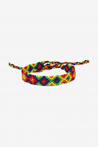 Rainbow Diamonds  Friendship Bracelet - pattern