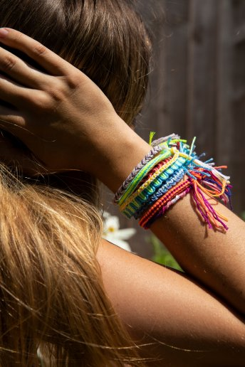 Vertocal Stripe Friendship Bracelet - pattern