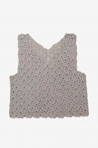 Grey Sleeveless Top - pattern