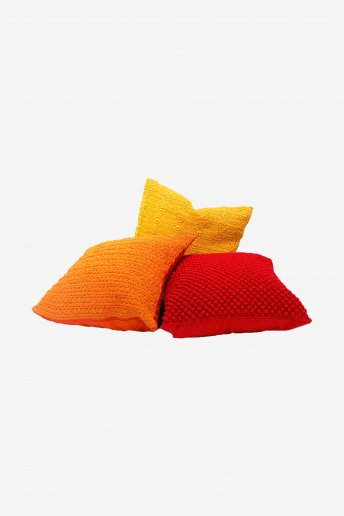 Red Cushion Cover - pattern