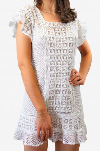 Salomon's Knot Stitch Dress - pattern