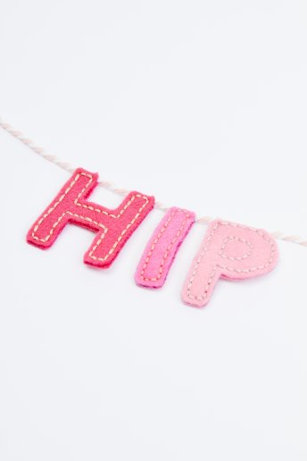 Hip Hip Hooray Garland - pattern