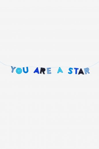 You Are A Star Garland - pattern