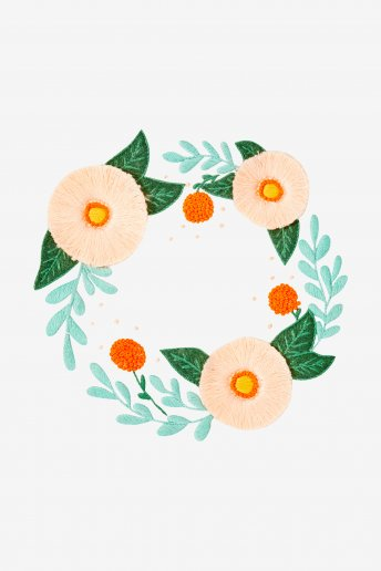 Summer Wreath - pattern