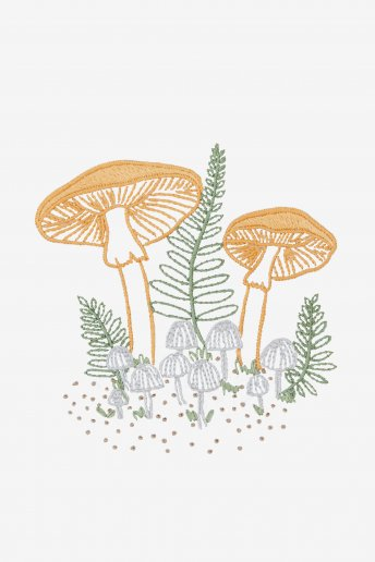 Woodland Mushrooms - pattern