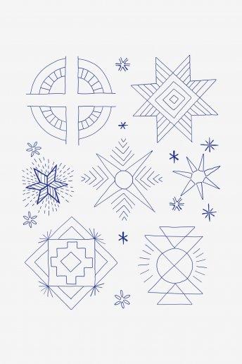Motifs géométriques - motif broderie