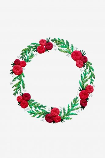 Holiday Wreath Pattern