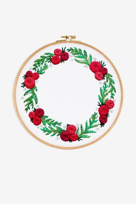 Holiday Wreath Hoop