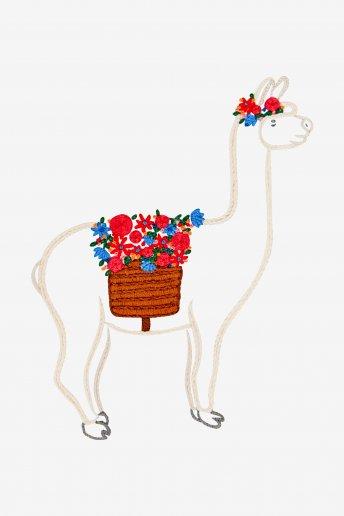 Alpaca floreale - SCHEMA GRATUITO