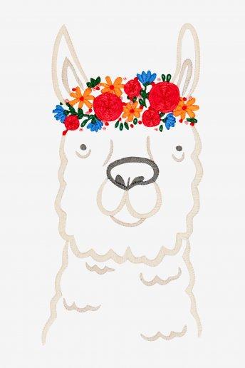 花飾りのアルパカ