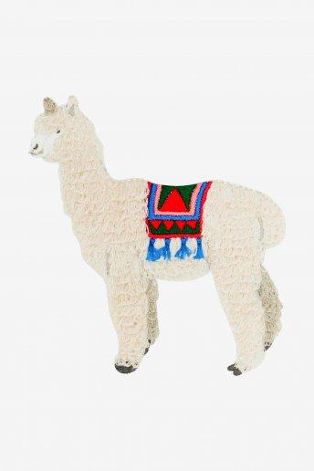 Alpaca con sella decorata - SCHEMA GRATUITO