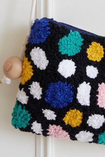 Sac - Punch Needle - motif loisirs créatifs