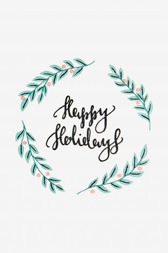 Happy Holidays - SCHEMA GRATUITO