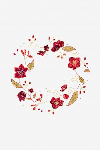 Christmas Roses - pattern