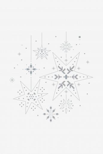 Pluie d'étoiles - motif point de croix