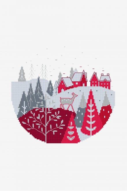 Village At Christmas - pattern - Free Cross Stitch Patterns