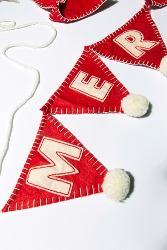 Merry Christmas Bunting - pattern