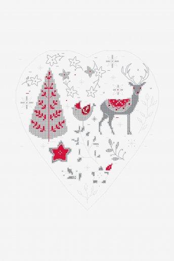 Christmas Heart - pattern
