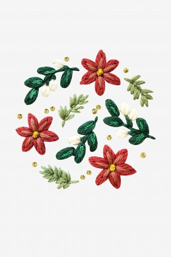 Poinsettia - motif loisirs créatifs