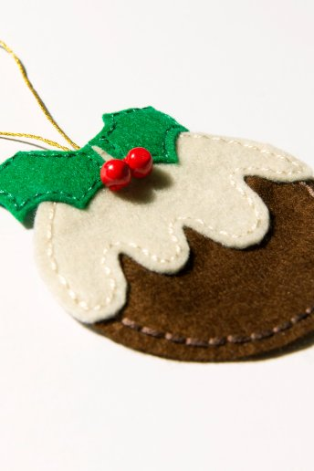 Christmas Pudding Decoration - pattern