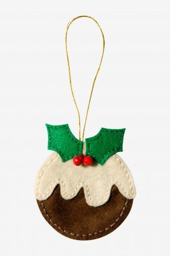 Décoration pudding de Noël - motif loisirs créatifs