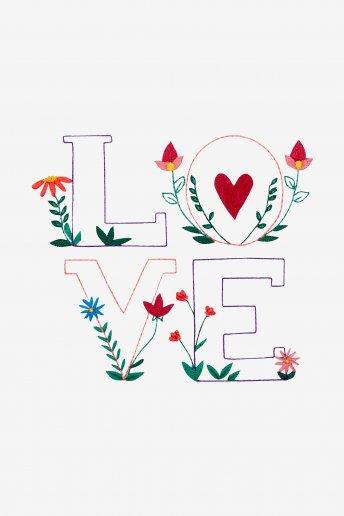 Flower Love - pattern