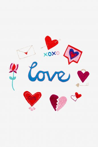 Love Signs - DIAGRAMA DE BORDADO