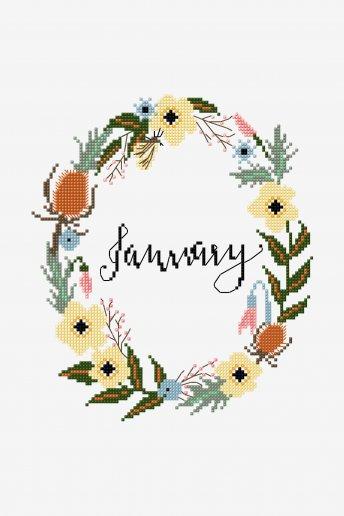 January  - pattern