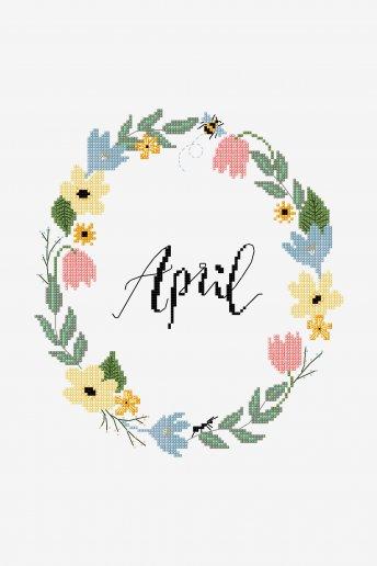 April - pattern