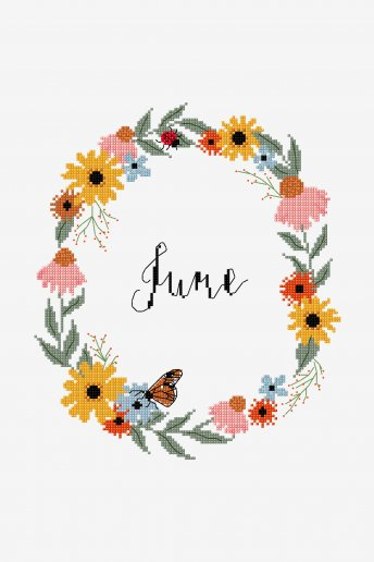 Juni -  ZÄHLVORLAGE