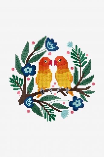 Lovebirds - pattern