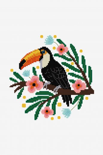 Toucan - motif point de croix