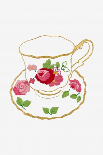 The Romantic Porcelain Cup - pattern
