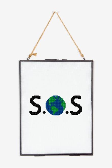 S.O.S - Motif point de croix