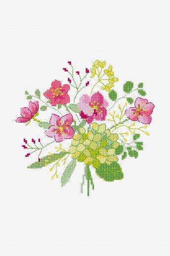 Bouquet d'Hellébore - Motif point de croix