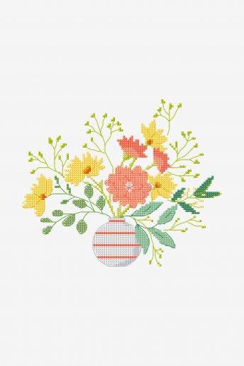 Floraison estivale - Motif point de croix