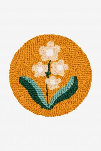 Anémone de printemps - Punch Needle - Motif loisirs créatifs