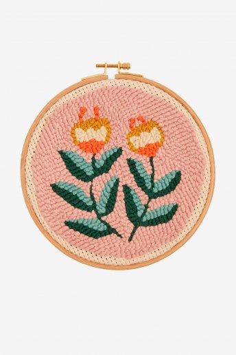 Floraison estvale - Punch Needle - motif loisirs créatifs