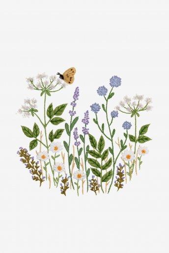 Prado de flores selvagens - Desenho