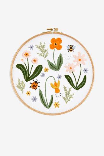 Flores de floresta - Desenho de bordado