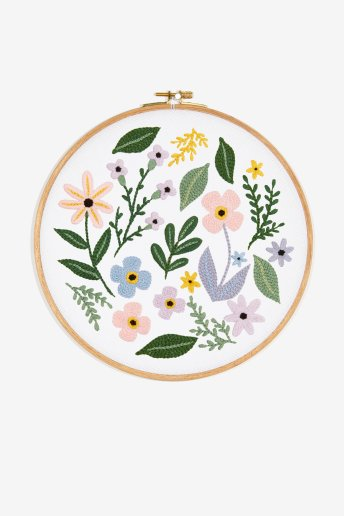 Flores de primavera - Desenho de bordado
