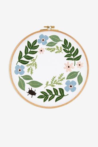 Folhas verdes - Desenho de bordado
