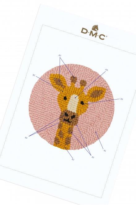 Girafe - Motif Punch Needle