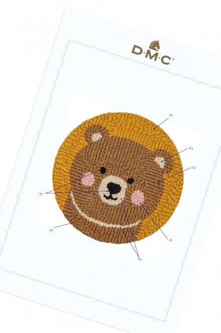 Punchneedle Animals - Bear