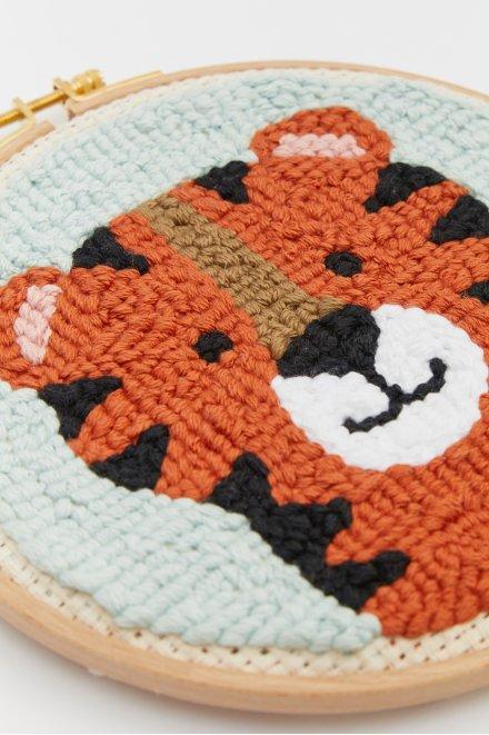 Punchneedle Animals - Tiger