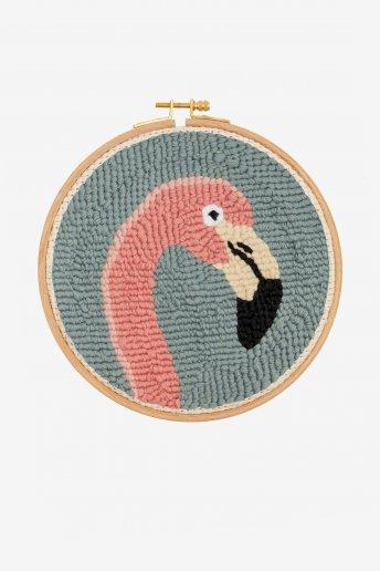 Flamingo - Punch Needle