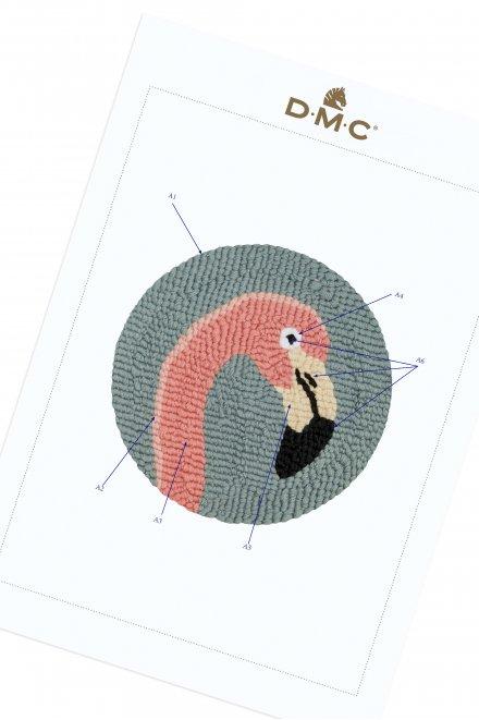 Flamingo - Punchneedle Tiere