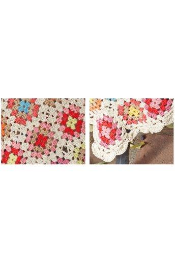 Modello crochet coperta multicolore
