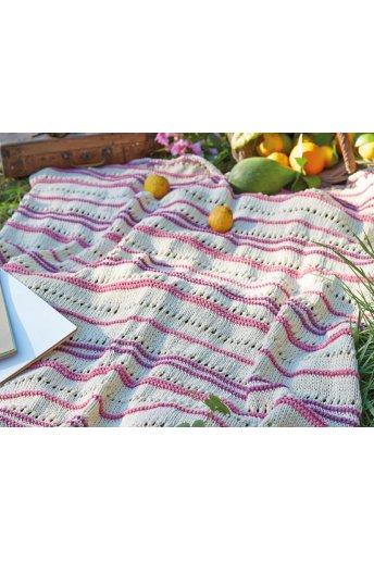 Patrón manta de tricot a rayas